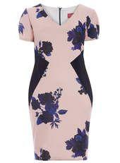 Gemma Collins Pink & Navy Blue Ravello Dress