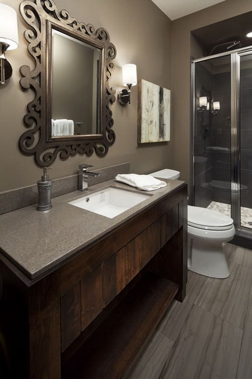 dark brown bathroom mirror best 25 brown bathroom decor ideas on brown 18042 | 8cf5ecbfe2f1af9ffbaeee30655578a3 rustic bathrooms rustic bathroom designs