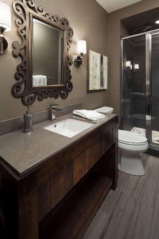 Dark brown bathroom decoration ideas rehab bathroom for Bathroom rehab ideas