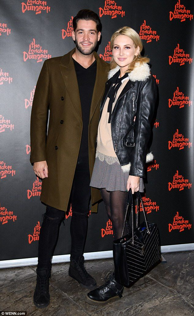Hot couple! Stephanie Pratt and Jonny Mitchell looked undeniably smitten as they attended the launch of the Death Express Halloween show at the London Dungeon on Wednesday