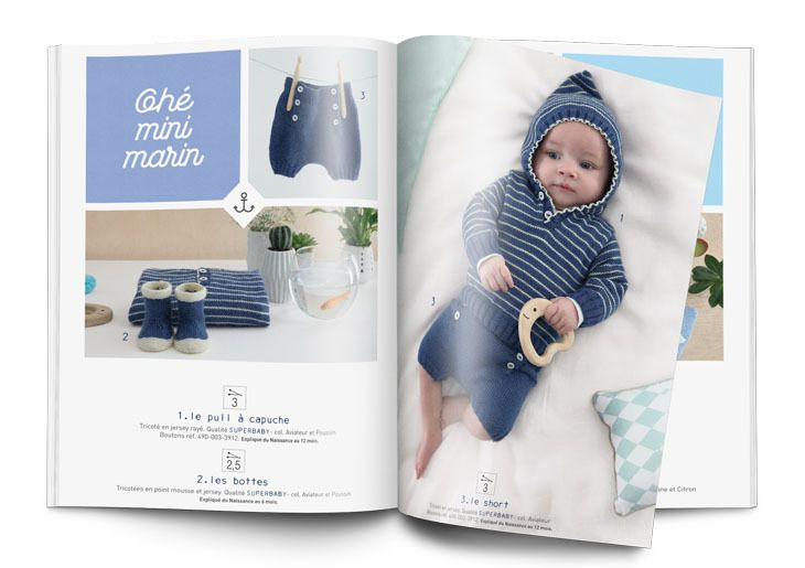 Mini-catalogue N°641 Layette - Layette - Phildar