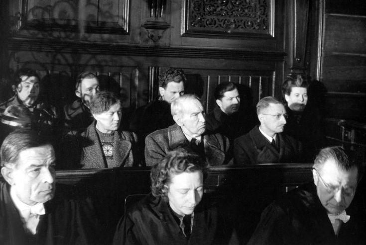 Die Täter vor Gericht:  Am 24. Februar 1947 begann vor der Strafkammer des...