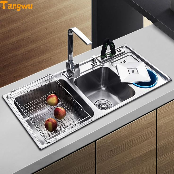 Tangwu dual trough sink kitchen stainless steel