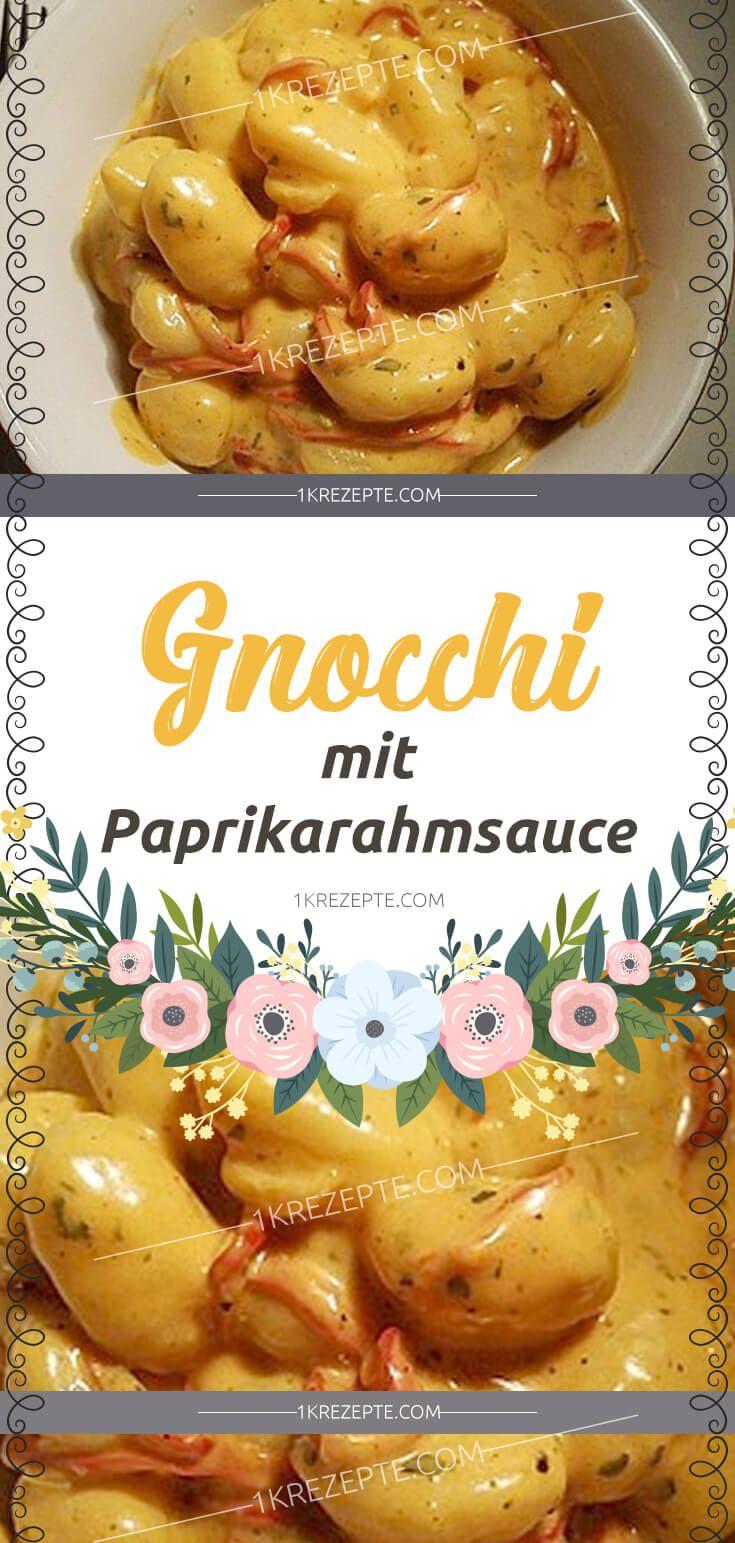 Gnocchi with paprika cream sauce   – Essen,dips
