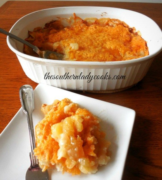 CHEESY APPLE CASSEROLE - The Southern Lady Cooks
