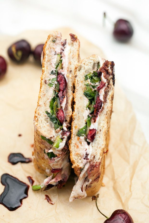 Balsamic Cherry and Shaved Asparagus Panini