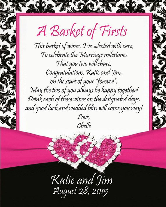 Personalized basket of firsts wine labels by MooseCreekDesigns