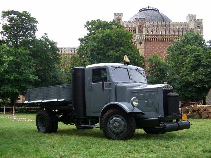Truck powered by wood gas in Vienna, Austria