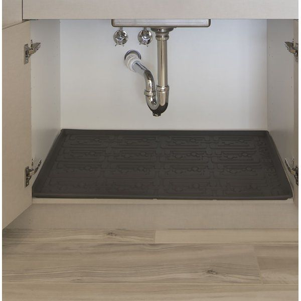 Xtreme Mats Under Sink Cabinet Mats Are Capable Of Holding Up To 3 3 Gallons Of Water In The Event Of A Leak Or Prod Kitchen Sink Storage Sink Kitchen Cabinets