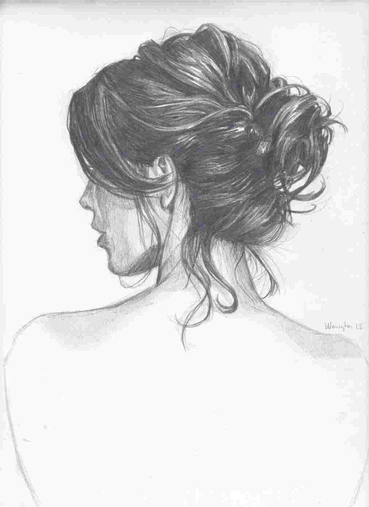 Messy Hair Bun By Kinannti On Deviantart Messy Bun Hairstyles How To Draw Hair Bun Hairstyles