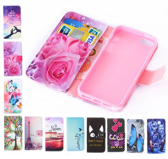 Fashion wallet Phone cover Beautiful Rose Flower Tower pattern full cover Flip Leather Case For Apple iPhone 4S for iPhone 4 Price: USD 2.81 | United States
