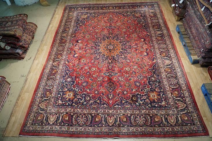 Persian Sheikh-Safi Isfahan 10' x 14' Sassanid Dynasty Design Rug Handmade