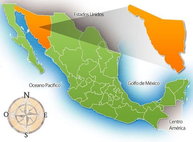 mapa de sonora mexico | Estado de Sonora