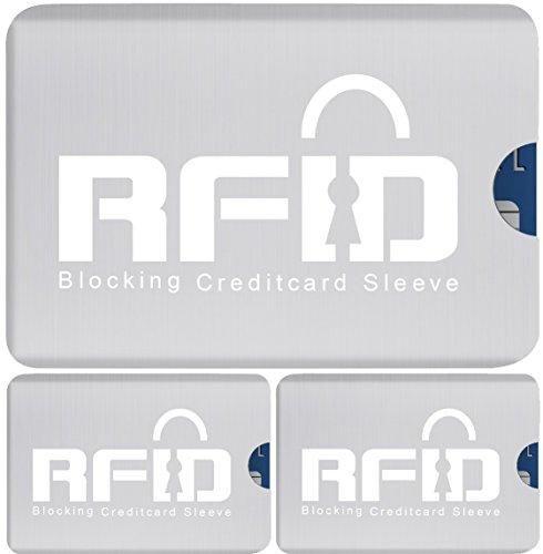 Oferta: 8.95€. Comprar Ofertas de RFID con seguridad metálico tarjeta de crédito Mangas: Conjunto de 3 Los titulares de tarjetas; Ultrafino y diseño flexible q barato. ¡Mira las ofertas!