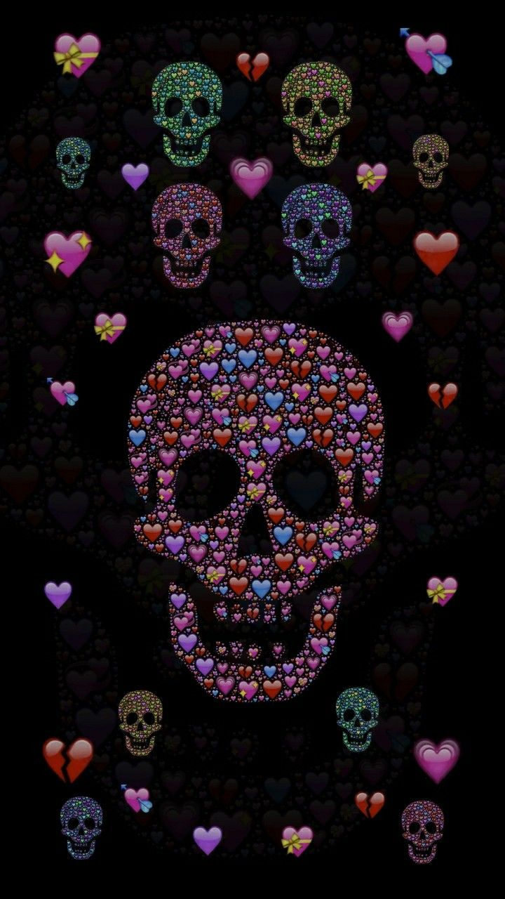 Pin By Tonya Thrift On Abstract Skull Art Skull Wallpaper Skull And Bones