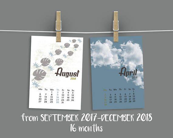 Office desk accessories 2017 calendar 2018 printable