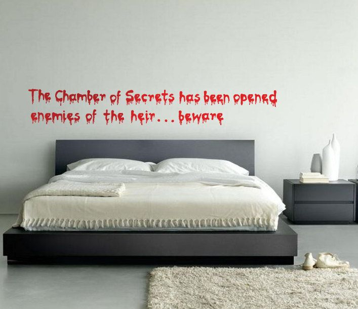 Harry Potter The Chamber of Secrets Has Been Opened Wall Decal   39 99  via  Etsy. 17 Best images about Girls bedroom on Pinterest   Bedroom