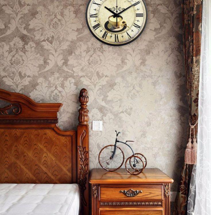 дюймовые кофе декоративные настенные часы абсолютно бесшумные Главная украшения кухни настенные часы моды настенные часы часы настенные круглые часы настенные бесшумные для гостиной украшения купить на AliExpress