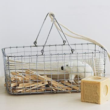 Wire Mesh Storage. Caddy. I love the idea of keeping mail, etc. in this. Organization idea.