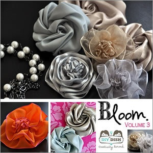 How to make a variety of fabric flowers. Good for all those