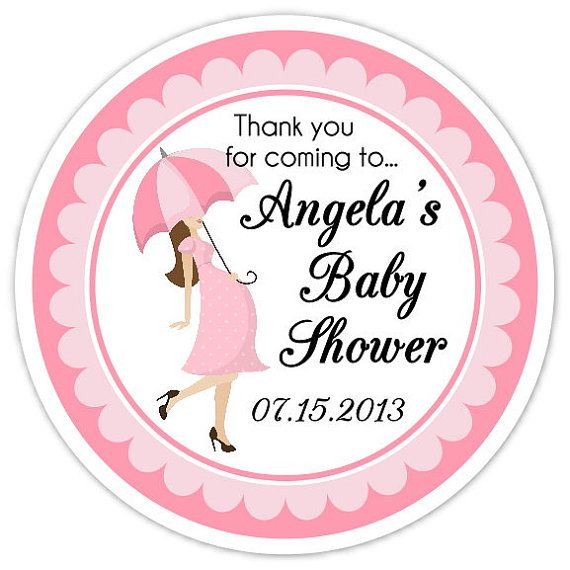 Beautiful Baby Shower Umbrella Stickers, Custom Baby Shower Labels, Personalized For  YOU