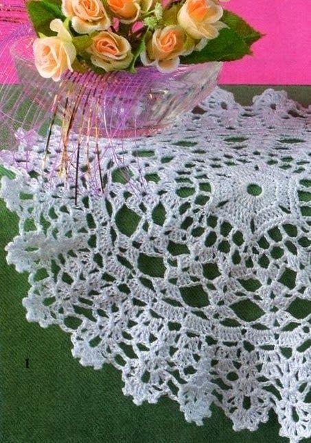 Tecendo Artes em Crochet: Três Lindas Toalhinhas com Gráficos para Vocês! DIAGRAMA.