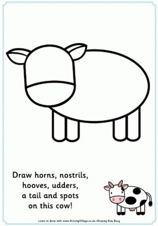 Complete the Picture Cow - free printables