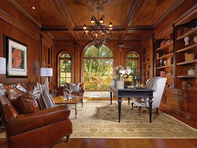 Captivating Mansion Home Office Gothic Interior Fully Paneled Wood Walls | Flickr    Photo Sharing!
