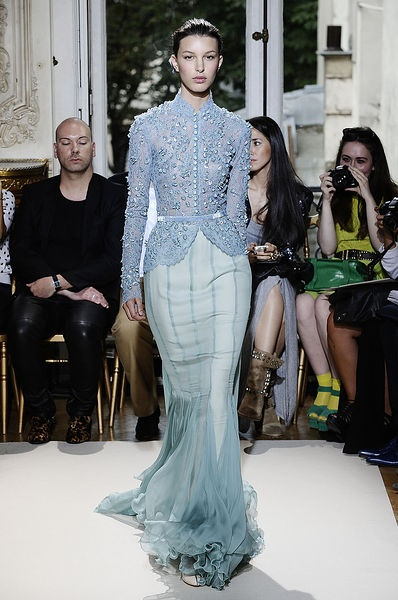 Georges Hobeika - Couture - Fall-winter 2012-2013...but the two blues are a bit off...