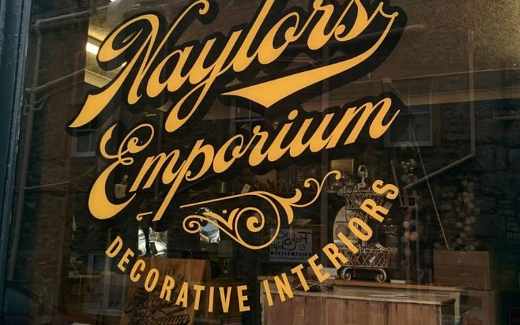 Naylors Emporium Traditional Sign Writing by Paul Banks Signwriting and Design. #signwriter #signwriting