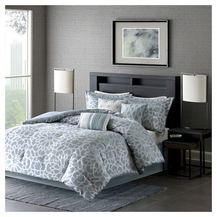 Carmela Comforter Set (California King) Blue - 7pc