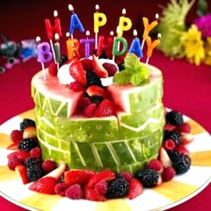 Cake Ideas For Womans 30th Alternative Birthday Diabetics Designer Healthy Awesome May Be Good Dess