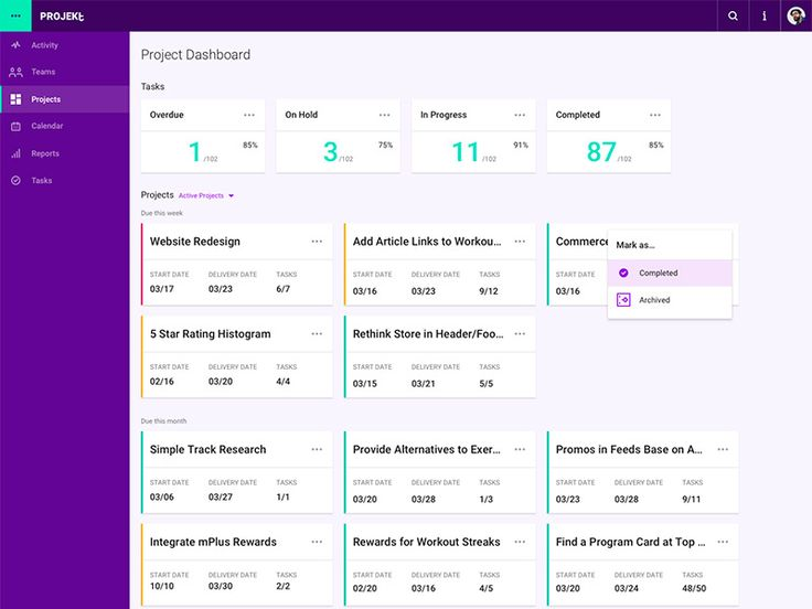 Projeckt - Project Dashboard