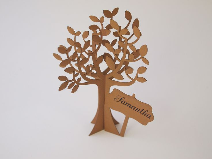 Laser cut tree place card