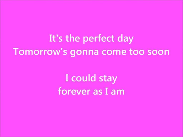 Perfect Day - Hoku (Legally Blonde Soundtrack) - with Lyrics