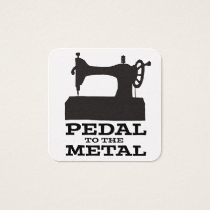 Pedal to the Medal Square Card - diy cyo customize create your own #personalize