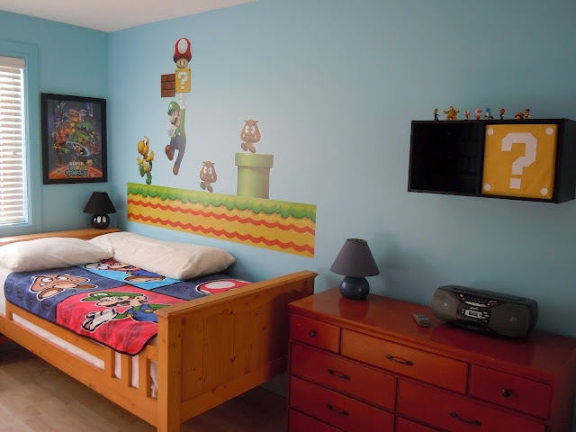 super mario brothers wall decals with decorative lighting interior design giesendesign