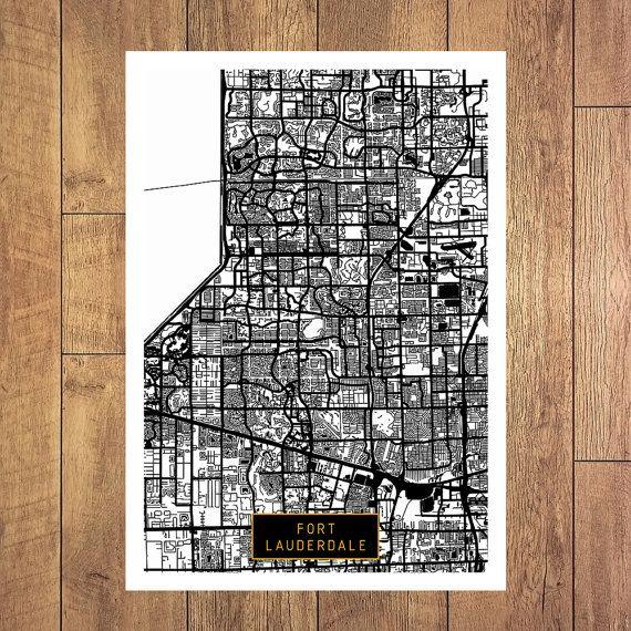 FORT LAUDERDALE Florida City Map Fort Lauderdale by JackTravelMap