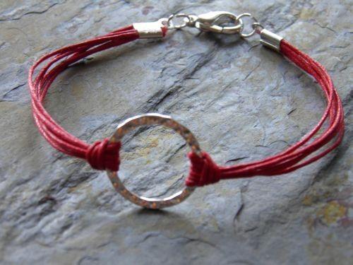waxed cord bracelet