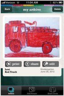 Organization solutions: ArtKive kids' art storage app
