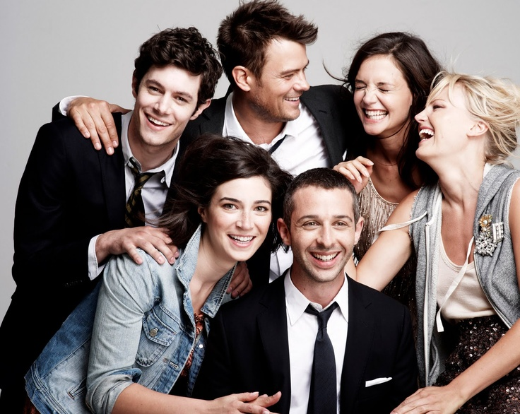 Adam Brody, Josh Duhamel, Katie Holmes, Rebecca Lawrence, Jeremy Strong + Malin Akerman - J. Crew Fall 2010 collection -  THE ROMANTICS CAST