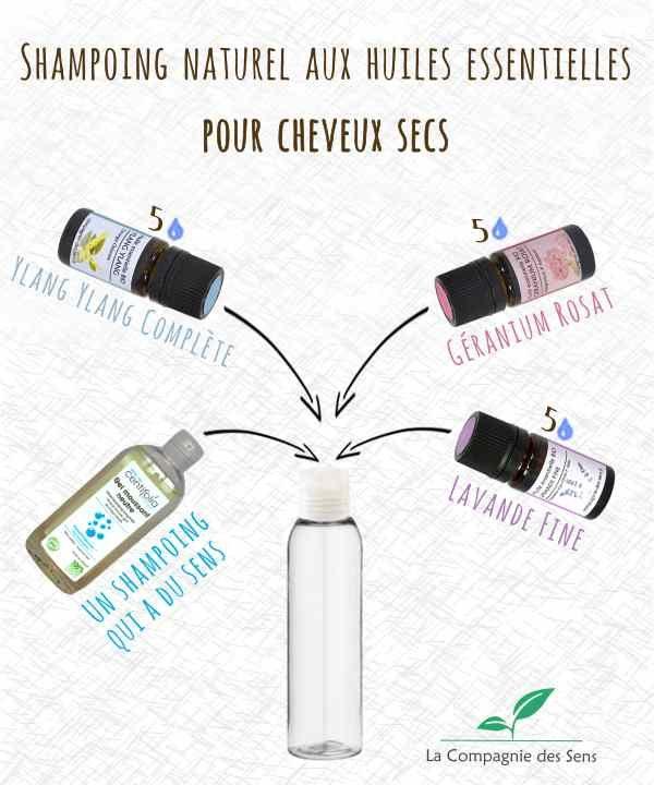 Réaliser son shampoing naturel bio aux huiles essentielles pour hydrater les cheveux secs