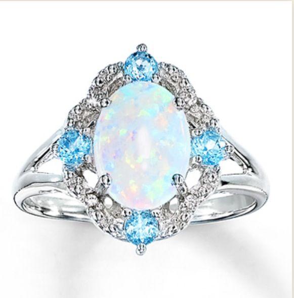 Opal ring Kay jewelers Jewelry Pinterest