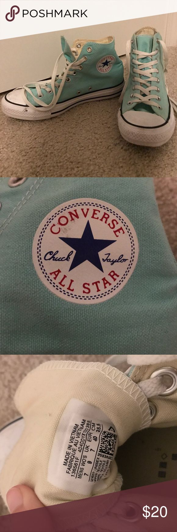 Mint Converse Hightops Worn only a few times, great condition! Converse Shoes Sneakers