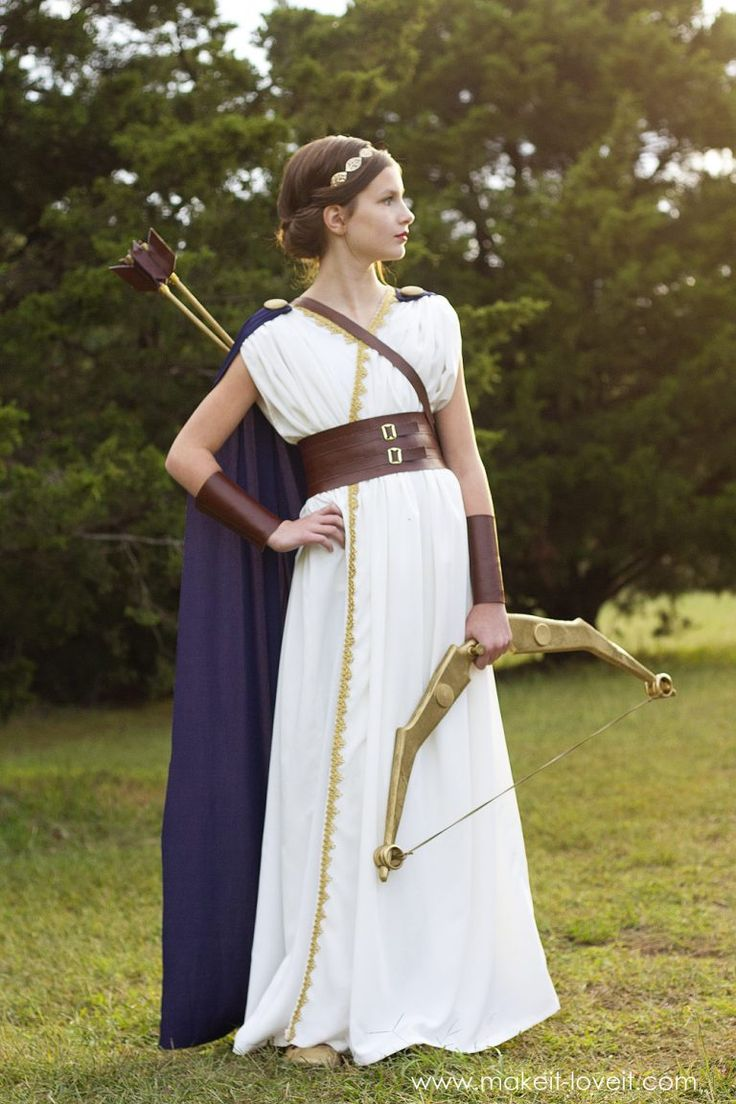 DIY Greek Goddess Costume: ARTEMIS | Greek goddess costume ...