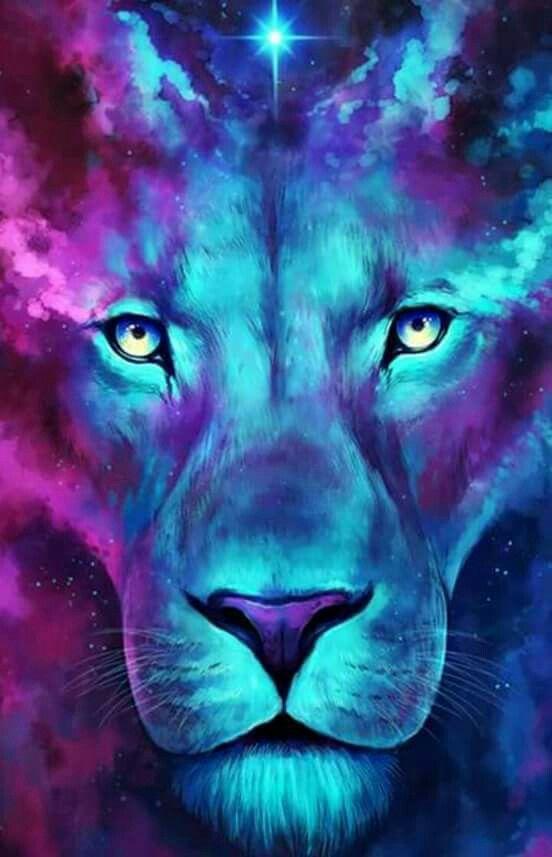 Lion Wallpaper Fractal Animals in 2019 Lion wallpaper