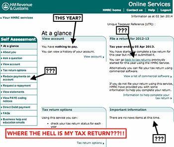 online service tax return filing form