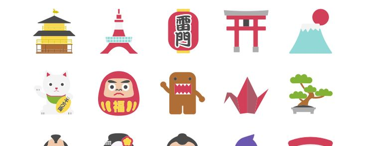 Japan Icons 15 Icons, Sketch