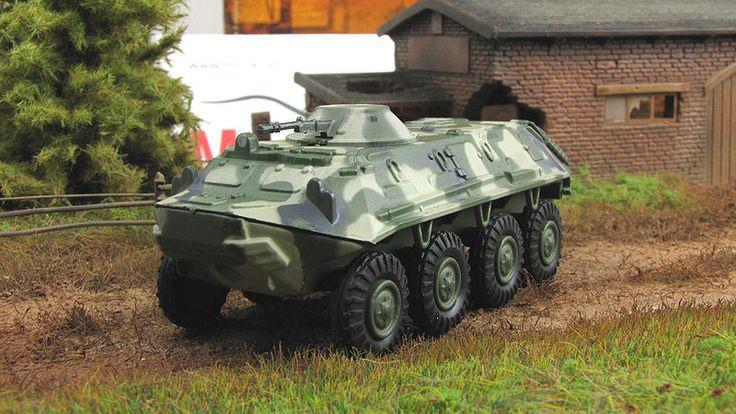 1:72 BTR-60 PB Soviet armored carrier Fabbri mod & mag №90 Russian Tanks