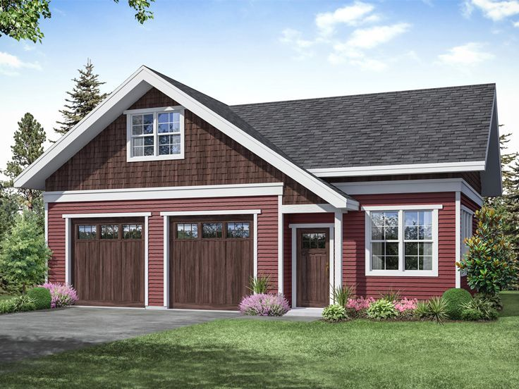 051g 0127 2 Car Garage Plan With Workshop Cottage Style House Plans Garage Workshop Plans Garage Plan